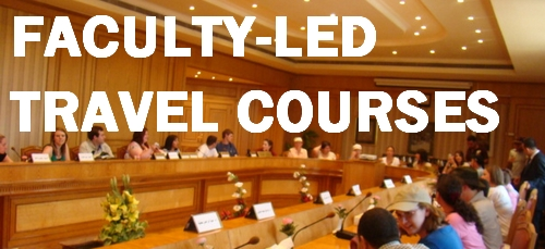 Faculty-Led Travel courses